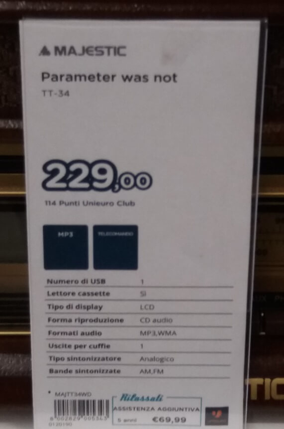 Error'd: The Parameter was NOT Set